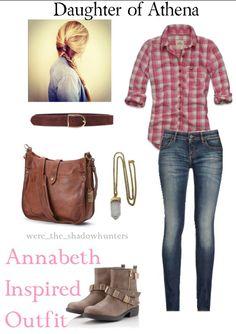 Annabeth Chase Outfit #love, #fandom percy jackson