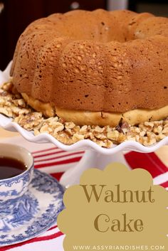 How to make a Walnut Cake with Assyrian Dishes! Walnut Cake, Learn To Cook, Food Videos, Tiramisu, Dishes, Cooking, Ethnic Recipes, Desserts, Cakes