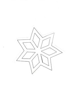 star (cut it out & cover the holes with glued colored transparent paper on the back - looks pretty in windows) Christmas Star, Christmas Crafts, Star Template, Templates, Quilting Stencils, Paper Stars, Kirigami, Colouring Pages, How To Look Pretty