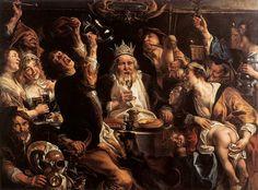 El Rey bebe. Jacob Jordaens
