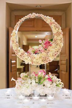 Mirror Wedding Centerpiece - Duke Photography
