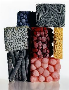 Irving Penn. 'Frozen Foods with String Beans' New York, 1977 - pretty, yet completely manufactured. This is food.