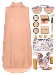 """Peachy"" by monmondefou ❤ liked on Polyvore featuring Chanel, Maison Margiela, By Terry, Bobbi Brown Cosmetics and Westward Leaning"