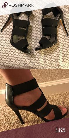 Black strapped heels Never worn still in original box Diba Shoes Heels