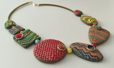A polymer clay necklace | Jana Roberts Benson's Bargello tec… | Flickr