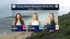 2016 Drug Aware Margaret River Pro (W): Round 1, Heat 5 Video