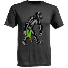 Ames Bros Space Ape T-Shirt Charcoal Heather size XL