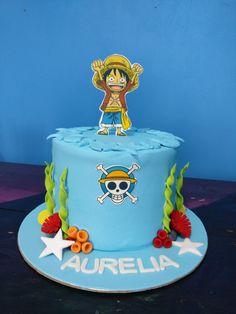 Birthday Cake Decorating, Birthday Decorations, One Piece Birthdays, Anime Cake, Cupcake Cakes, Cupcakes, Cute Desserts, Themed Cakes, Amazing Cakes