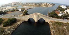 Puente de Veneziola, La Manga del Mar Menor, España- Spain. Fotografía de José Luis Caravaca. River, Outdoor, Manga, Beautiful Places, Bridges, Cartagena, Cities, Naturaleza, Scenery