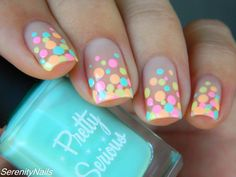 Neon Pastel Dot Gradient - Serenity Nails