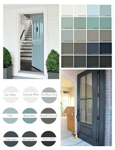 Front Door Paint Colors Weve pulled together over 30 of the most popular front door paint colors that can really add beautiful curb appeal.Weve pulled together over 30 of the most popular front door paint colors that can really add beautiful curb appeal. Best Front Doors, Grey Front Doors, Painted Front Doors, Colored Front Doors, Colored Door, Victorian Front Doors, Vintage Doors, Antique Doors, White Doors