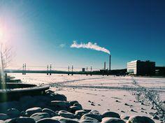 Winter in Jönköping, Sweden.