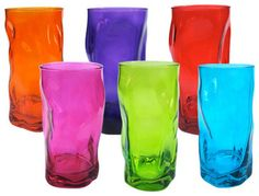 Tall Wobbly Tumblers  everyday glassware