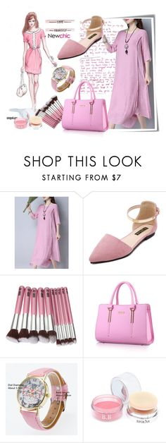 """""""Newchic-06"""" by autumn-soul ❤ liked on Polyvore featuring Post-It, GE and monochromepink"""