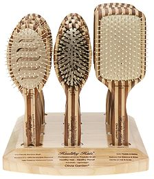 The Olivia Garden Healthy Hair Professional Ionic Paddle Brush collection 12-peice retail display comes with 4 brushes in each type: HH-P5, HH-P6, and HH-P7. #OliviaGarden #BeautyTools #HealthyHair