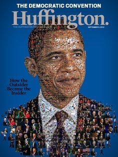 President Obama for Huffington Magazine cover by @Charis Murray Murray Murray Tsevis