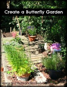 Sun Hats & Wellie Boots: Butterfly Garden - created with Recycled Materials