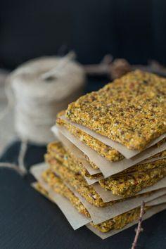 Raw parsnip crackers