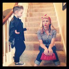 Mother/son 50's costume. - had to post this is my friend and her son! Lookin good as always