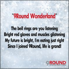 "Christmas is only 9 days away! So in the spirit of the season, we've decided to write our OWN rendition of ""Winter Wonderland."" As you read it, reflect back to the day you joined 9Round. Has your lifestyle changed since then? If so, HOW? Let us know. We'd love to hear from you! Would you like to pass along the ""gift of fitness"" to that special someone in your life? ASK US ABOUT A 9ROUND GIFT CERTIFICATE! #WinterWonderland #TotalBodyTransformation #9RButler"