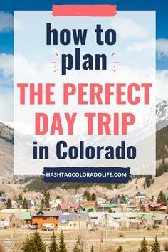 No matter what time of year, day trips are the perfect way to add adventure to your life. Check out these tips for planning the perfect Colorado day trip! Road Trip To Colorado, Visit Colorado, State Of Colorado, Colorado Mountains, Travel Planner, Budget Travel, Cool Places To Visit, Places To Go, Travel Guides