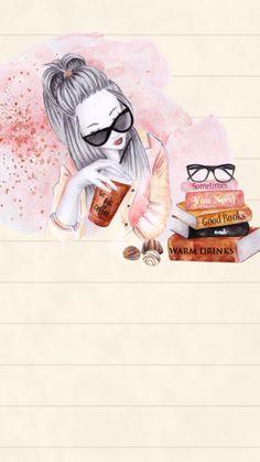 خلفيات مواضيع خلفيات مواضيع, 2019 makeup wallpapers, cellphone wallpaper ve Cute Backgrounds, Cute Wallpapers, Wallpaper Backgrounds, Makeup Wallpapers, Cellphone Wallpaper, Iphone Wallpaper, Cute Illustration, Anime Art Girl, Cute Drawings