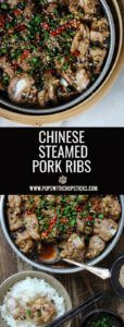 Chinese Steamed Pork Ribs with Black Beans - Pups with Chopsticks