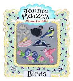 Birds set of 6 Iron-on Patches 1