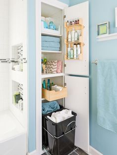 Storage Packed Small Bathroom Makeover, Modern Bathroom
