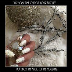 Holiday nail art design