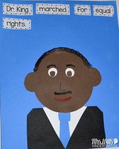 Martin Luther King, Jr Lesson Plans with reading and writing activities for kindergarten and first grade. Close reading lessons for Martin's Big Words are featured in this posts. Students will retell the story, write a connection, infer and more. Kindergarten Activities, Writing Activities, Preschool Class, Winter Activities, Educational Activities, Martin Luther King Jnr, Close Reading Lessons, Guided Reading, King Craft