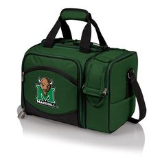 Marshall University Thundering Herd Digital P Malibu Picnic Tote - Hunter Green