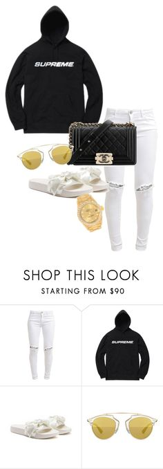 """Untitled #1095"" by sadgirllmaya ❤ liked on Polyvore featuring FiveUnits, Chanel, Puma, Christian Dior and Rolex"