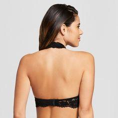 7cc487757035b Women s Padded Lace Halter Bralette - Xhilaration™ Black - S