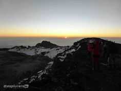 Sunrise 2nd of January 2015 06:15am at the summit of Mount Kilimanjaro