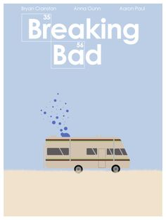 Breaking Bad by Andrew Tucker #breakingbad #tvposters #minimaltvposters