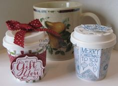 miniature coffee cups for crafts | CRAFTDOC » Blog Archive » Mini Coffee Cups - Stampin' Up!