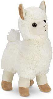 Bearington Lil Llama Carrysome Girls Plush White Llama Stuffed Animal Purse Handbag 7 inches Bearington Collection