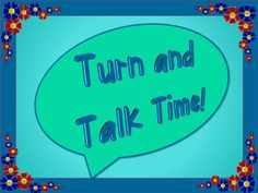 """Learn how to effectively use """"Turn and Talk,"""" sometimes called """"Think, Pair, Share,"""" with your students. http://www.minds-in-bloom.com/2013/02/keep-your-students-engaged-with-turn.html"""