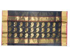 Black shade Chanderi Sarees with kerri butti & fancy Pallu Price ₹4,454.00 Shop -> https://goo.gl/646Fmv #Chanderisarees, #Appealing #Stunning #Lovely #Pleasing, #Onlineshopping, #Online
