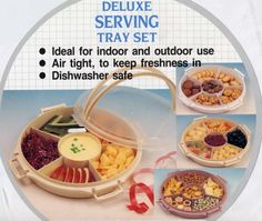 Chip, Dip and Finger Food Serving Tray with Six Compartments Sana Enterprises http://www.amazon.com/dp/B001MLCZZ4/ref=cm_sw_r_pi_dp_fbSRub01CKNCT