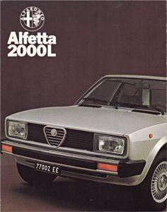 A Dutch brochure of the Alfa Romeo Alfetta 2000L from June 1978.
