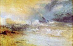 Turner, Joseph Mallord William: Wellen, die am geschützten Ufer brechen (Waves Breaking on a Lee Shore)