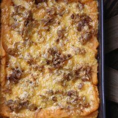 Mashed Sweet Potato Gratin with Smoked Gouda and Shallots