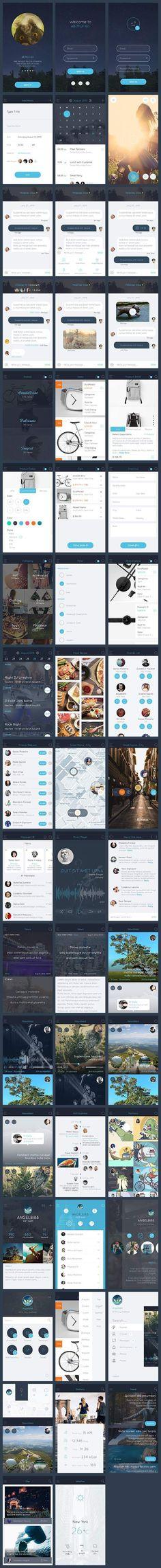app, app design, bundle, ios 8, ios 9, iphone 6, minimalist, mobile, quality, ui, ui design, ui kit, ux #UX / #UI #Design