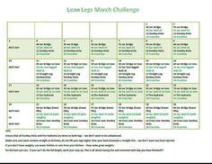 PRINTED -- Lean Legs Challenge
