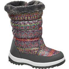 #Cortina #Schnee #Boots #grau für #Kinder Warmfutter mit Reißverschluss Farbe grau rot gelb Laufsohle Kunststoff Obermaterial Synthetik Kunststoff Innenmaterial 100% Polyester