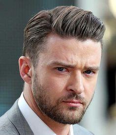 Elegant Side Partition Hairstyle Men