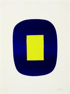 "Ellsworth Kelly, ""Blue with Yellow (Untitled)"" Ellsworth Kelly, Abstract Words, Abstract Painters, Abstract Art, Modern Art Prints, Wall Art Prints, Foto Art, Art History, Contemporary Art"
