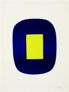 Ellsworth Kelly #ellsworth #bymariestore #art #chic #blue #yellow #minimalist #mood #painting